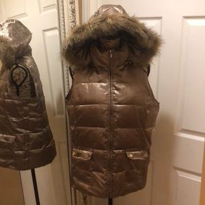 Charter Club gold puffer vest